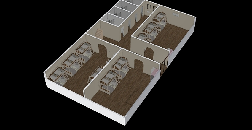 Mixed room F2 Interior Design Render