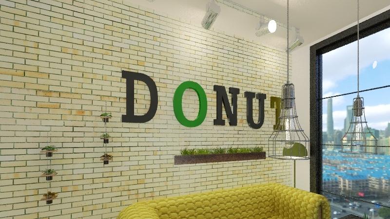DONUT'S ShOP Interior Design Render