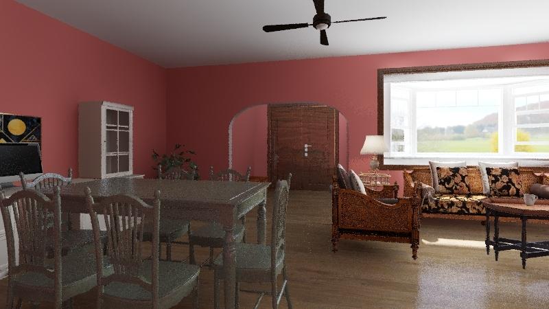 Small beach house Interior Design Render