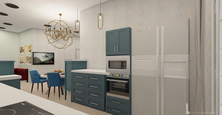 37 кв. 2 вариант Interior Design Render