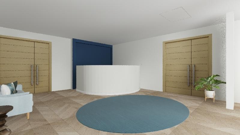 Recepción muro Interior Design Render