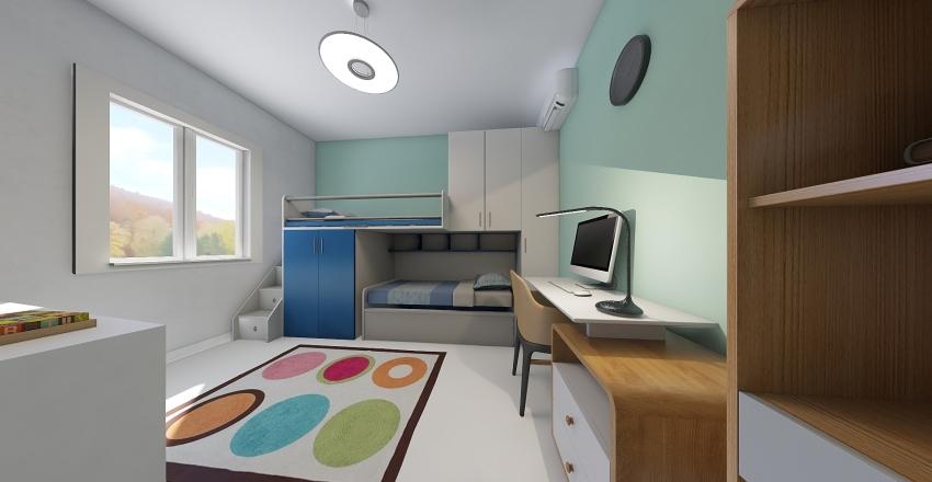 Stanza bimbi Interior Design Render