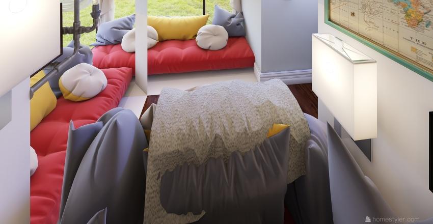 BOHO style Interior Design Render