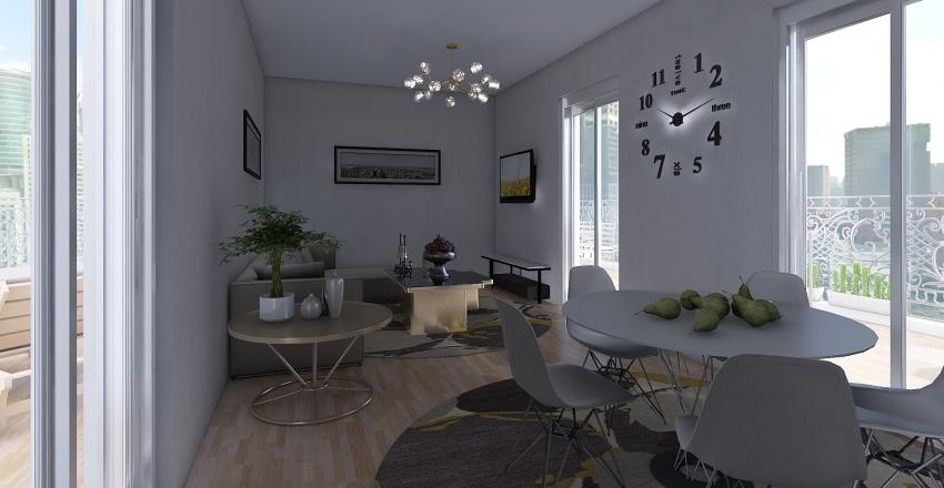 Attic Interior Design Render