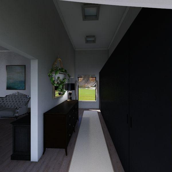 Luxury Dark Room Interior Design Render