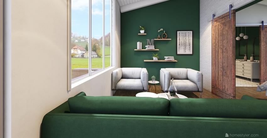 Tiny house hotel room  Interior Design Render