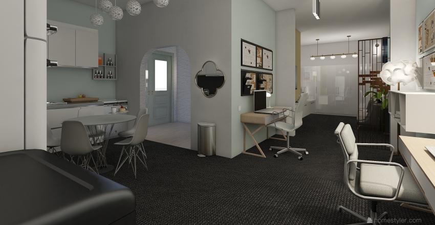 first design - student room Interior Design Render