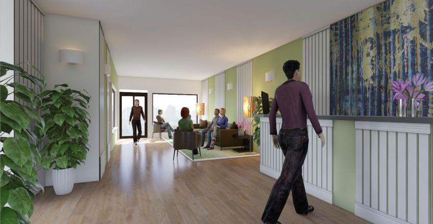Hall de Hotel  Interior Design Render