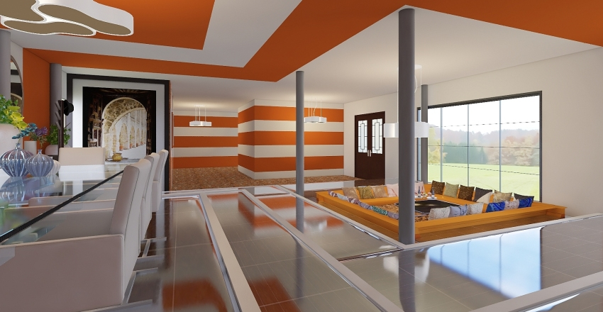 salone open space Interior Design Render