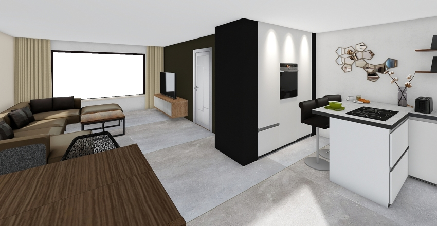 Lelystraat 3 - benedenverdieping Interior Design Render