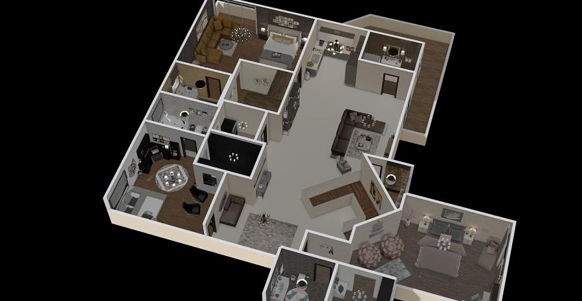 First Floor Plan Interior Design Render