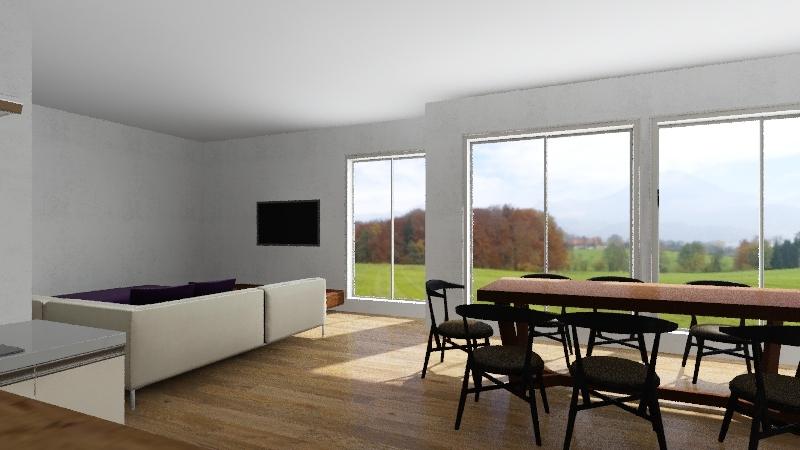 110 m2 Interior Design Render