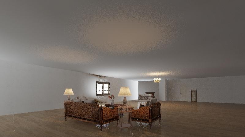 project rustic Interior Design Render