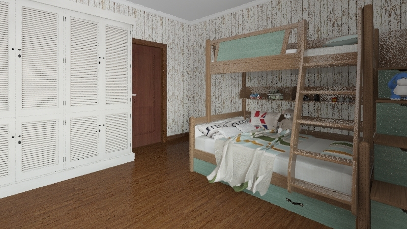 Old House Interior Design Render