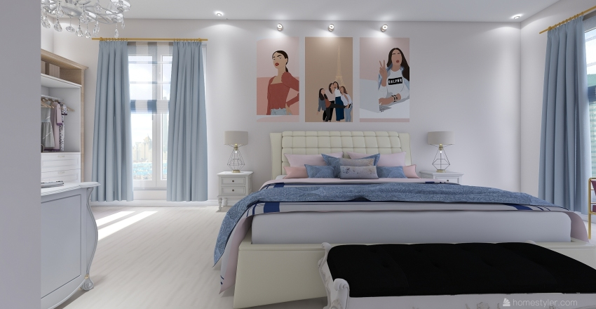 Boston White Interior Design Render