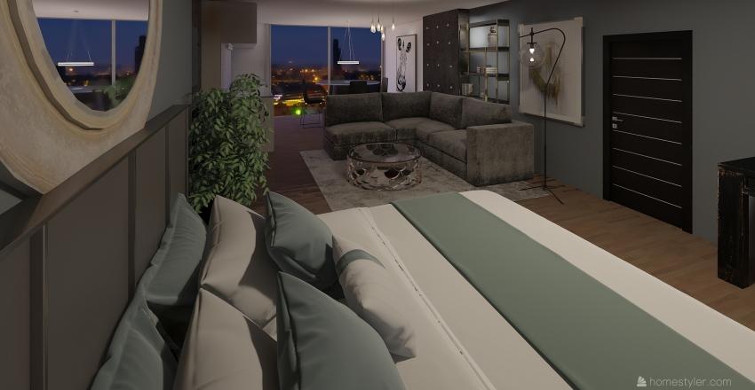 Hotel room.  Interior Design Render
