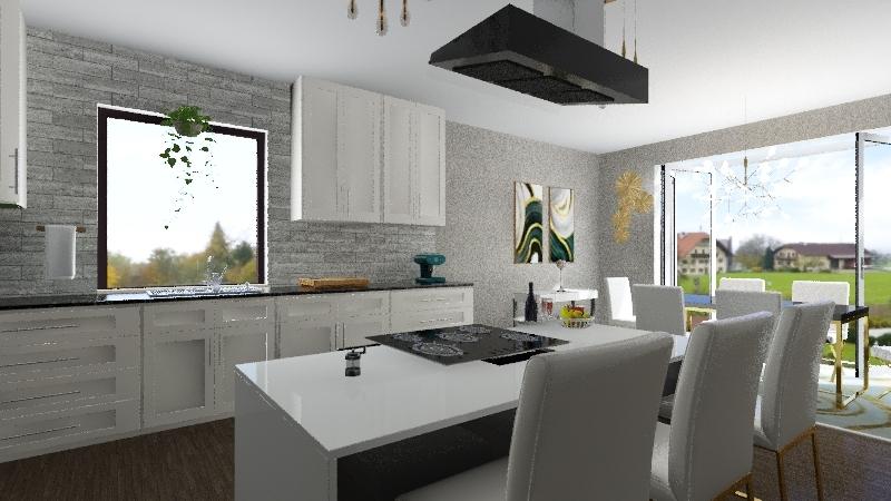 Honors Luxury Kitchen Design Interior Design Render