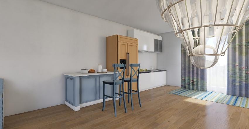 mediterainien house 3 storys Interior Design Render