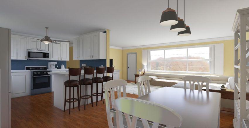 Updated Kitchen and Dining Interior Design Render