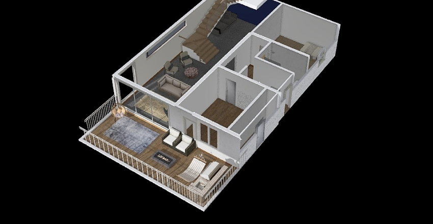 Downstairs Creek 3 Interior Design Render