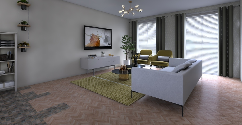 Downtown new one Interior Design Render