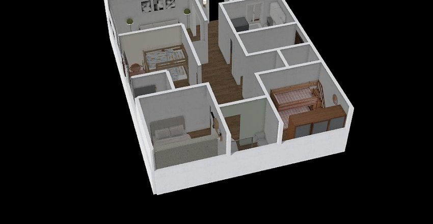 Floor plan project. Interior Design Render