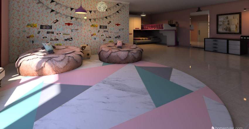 suíte feminina  Interior Design Render