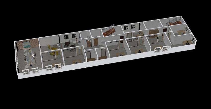 137 Clinton St - 6A  - All Private Office Interior Design Render