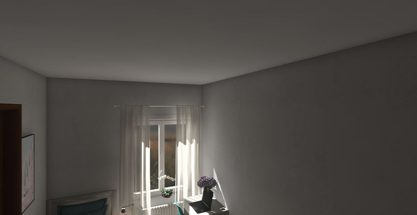 Prostřední pokoj Interior Design Render