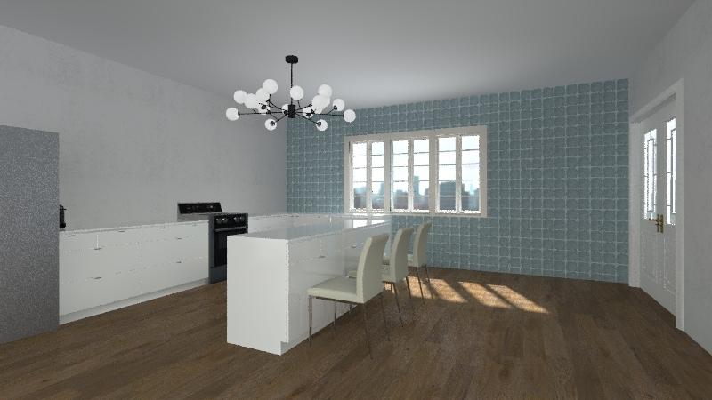 Modern House (Noelle) Interior Design Render