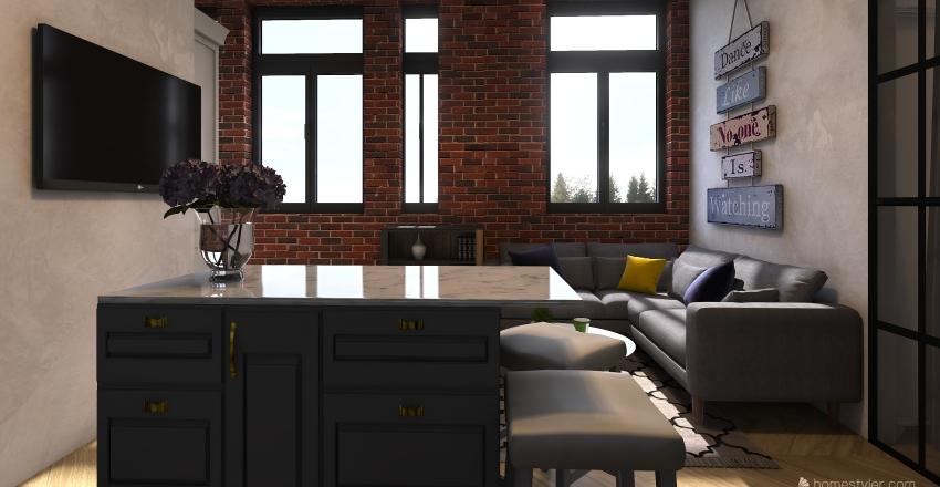 Kristina Kis 80m2 Interior Design Render