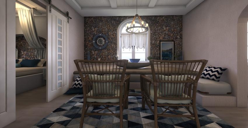 Mykonos traditional guest house Interior Design Render