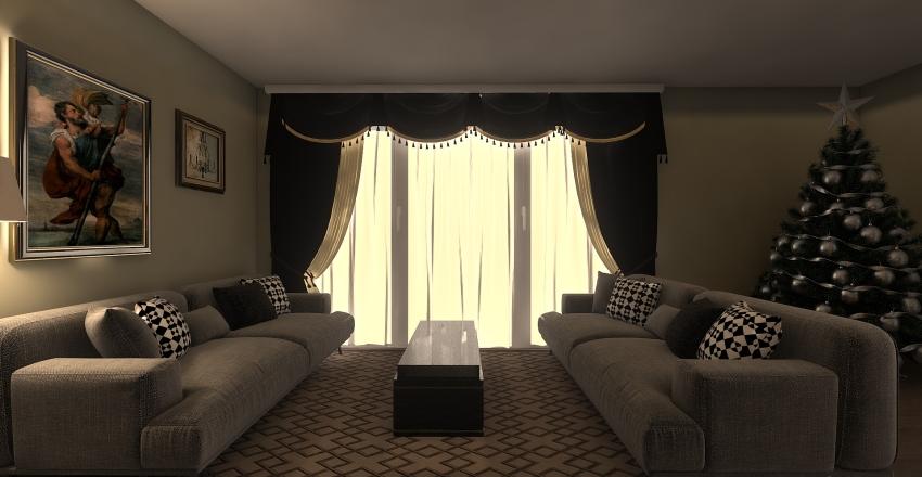 christmas living room Interior Design Render