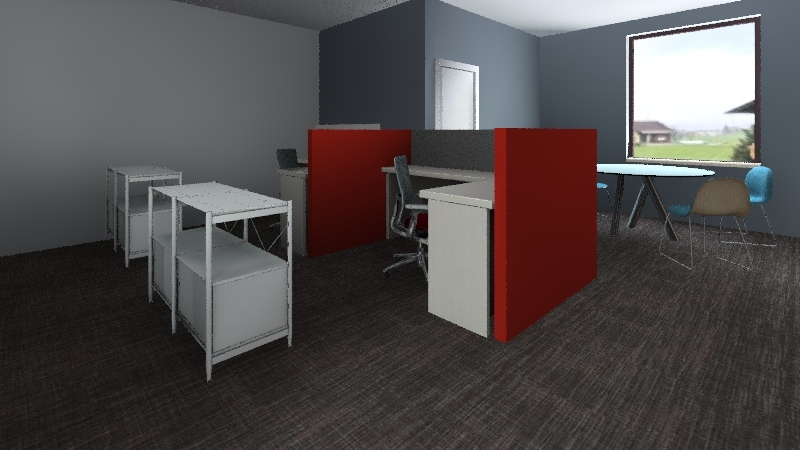 IT Room Interior Design Render