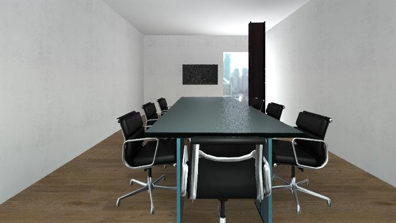 sala multimediale Interior Design Render