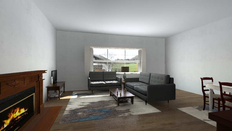 Main floor - 1738 Interior Design Render