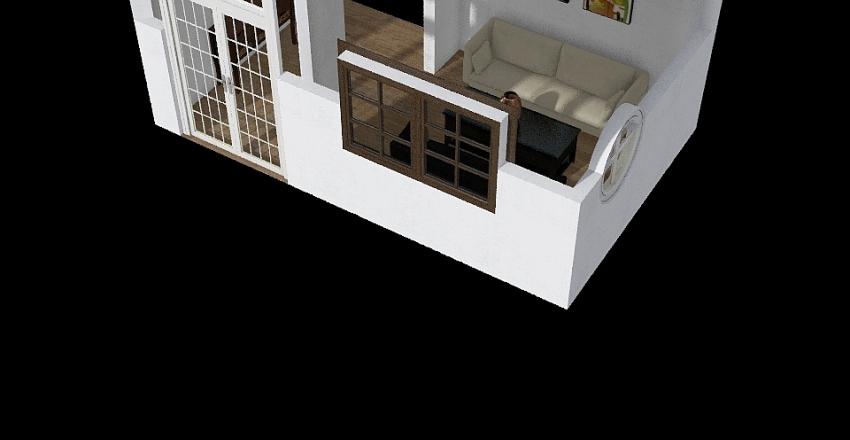 ruang tamu Interior Design Render