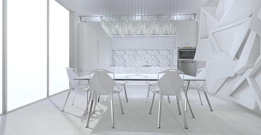 white apartment Interior Design Render