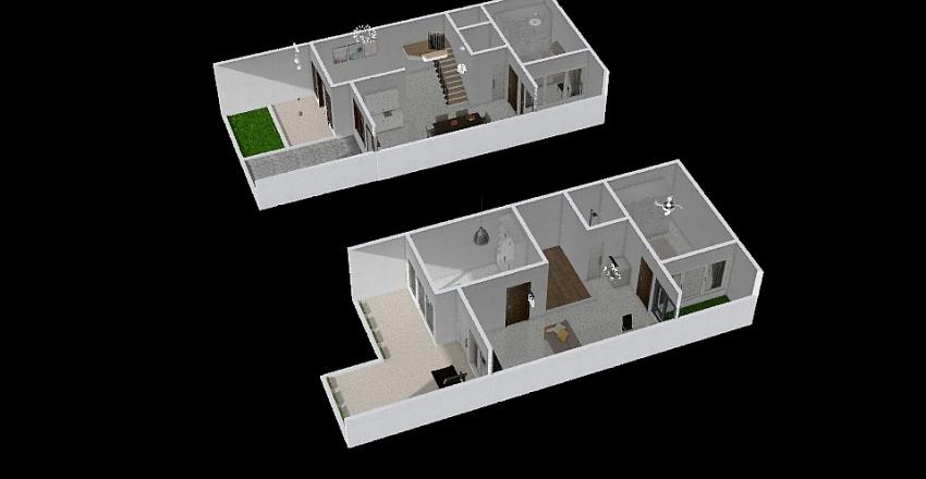 Raw Model Interior Design Render