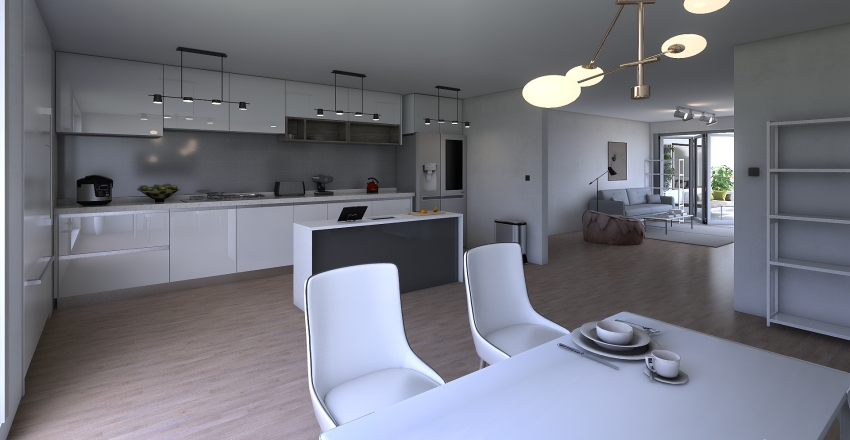 House for my friends Interior Design Render