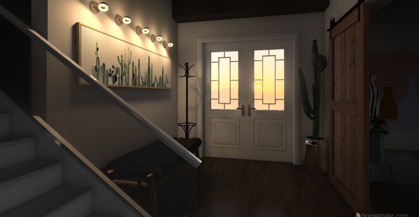 Evergreen Home Interior Design Render