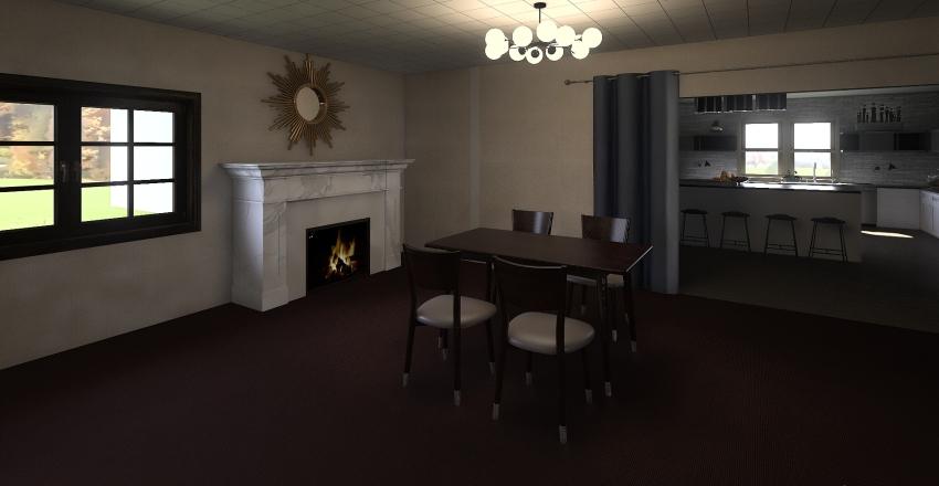 Kitchen for 2 Interior Design Render