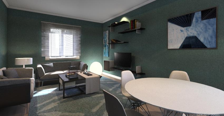 VIA MALTA DUE VANI LETTO 76 METRI Interior Design Render