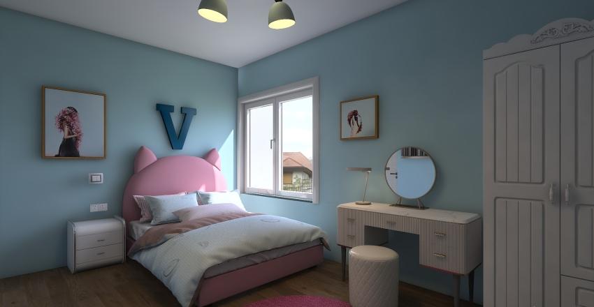 4to niñas Interior Design Render