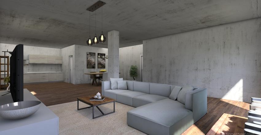 08_SOGGIORNO Interior Design Render