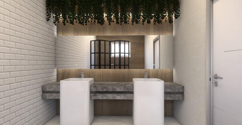 Projeto Banheiro Casal Interior Design Render
