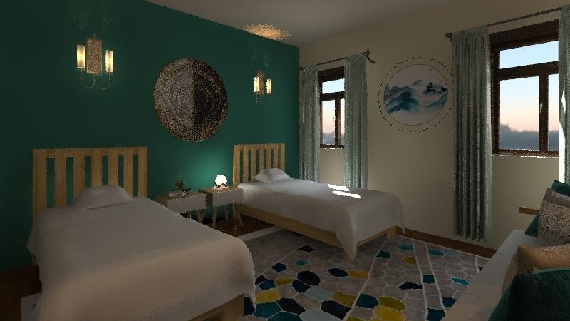 gust room Interior Design Render