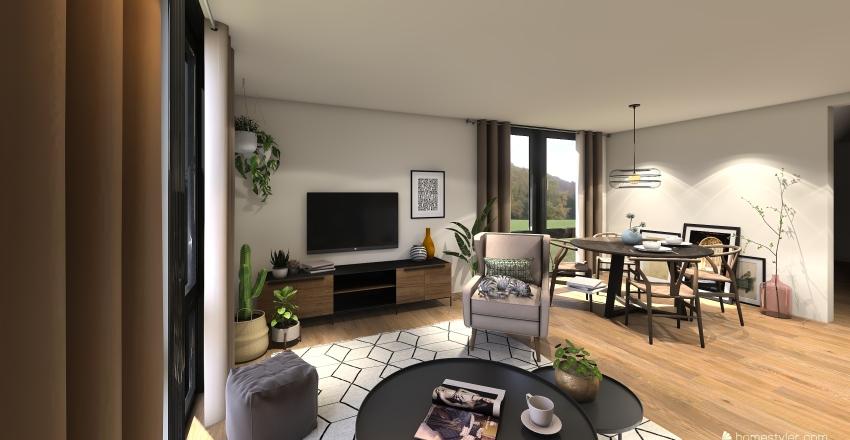 Scandi style 1 Bedroom apartment  Interior Design Render