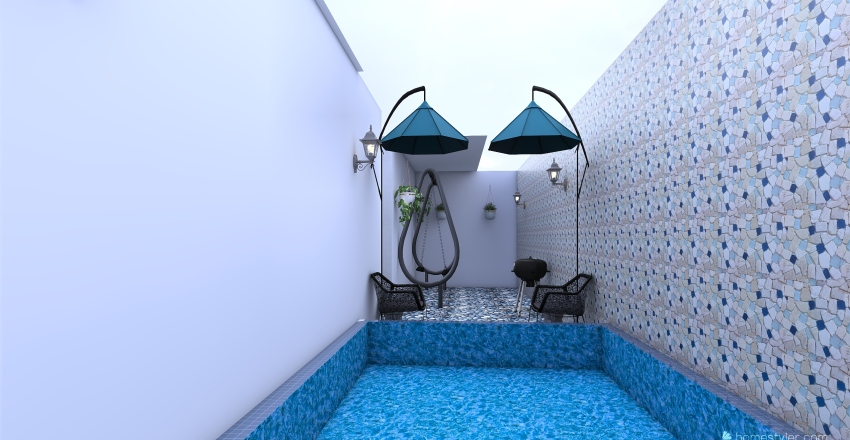 Comfortable house Interior Design Render