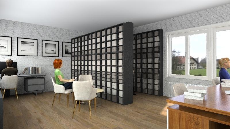 Knjižnica Sunčica Interior Design Render
